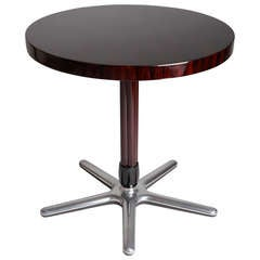 Art Deco Round Table with Metal Base