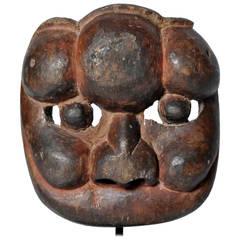 Yangmu Wood Mask on Stand