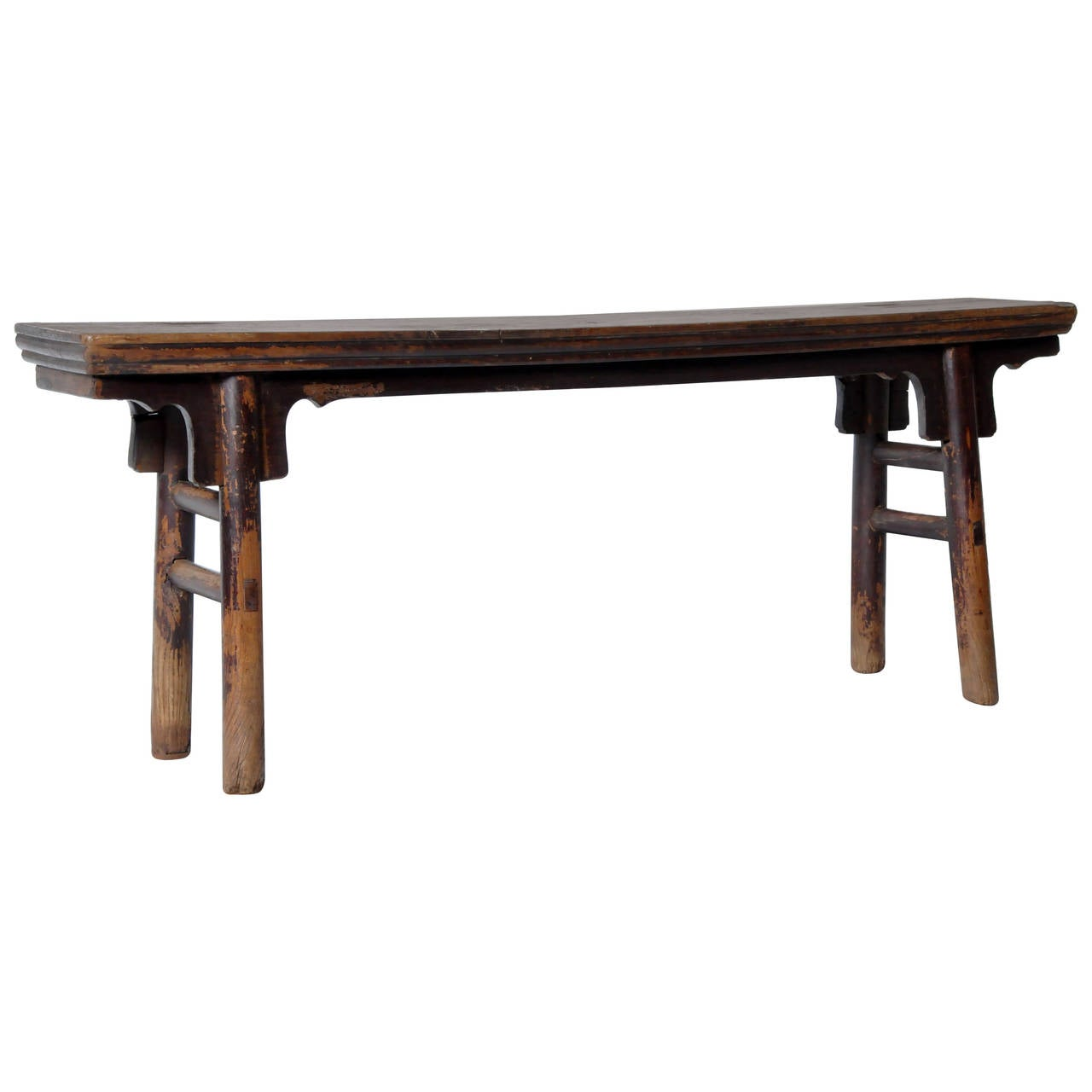 Chinese Ice Plate Edge Bench At 1stdibs
