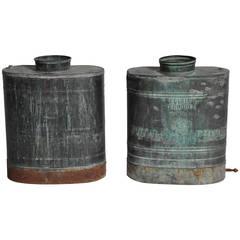 Vintage Oxidized Copper Vessels