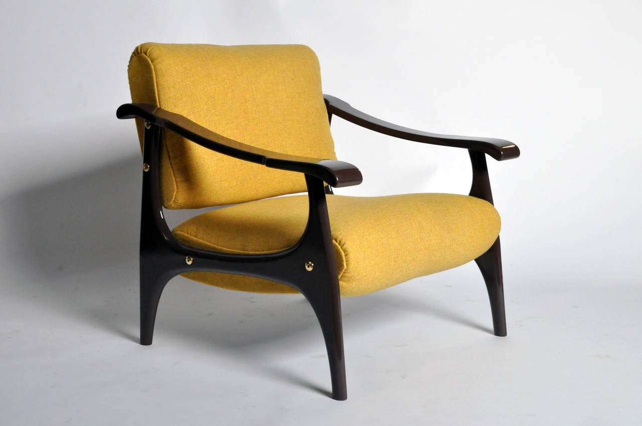 Set of mid century modern armchairs in the style of finn for Mid century modern armchairs
