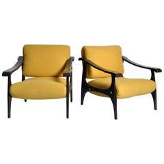 Set of Mid-Century Modern Armchairs in the Style of Finn Juhl