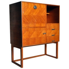 Modern Petite Fall-Front Cabinet
