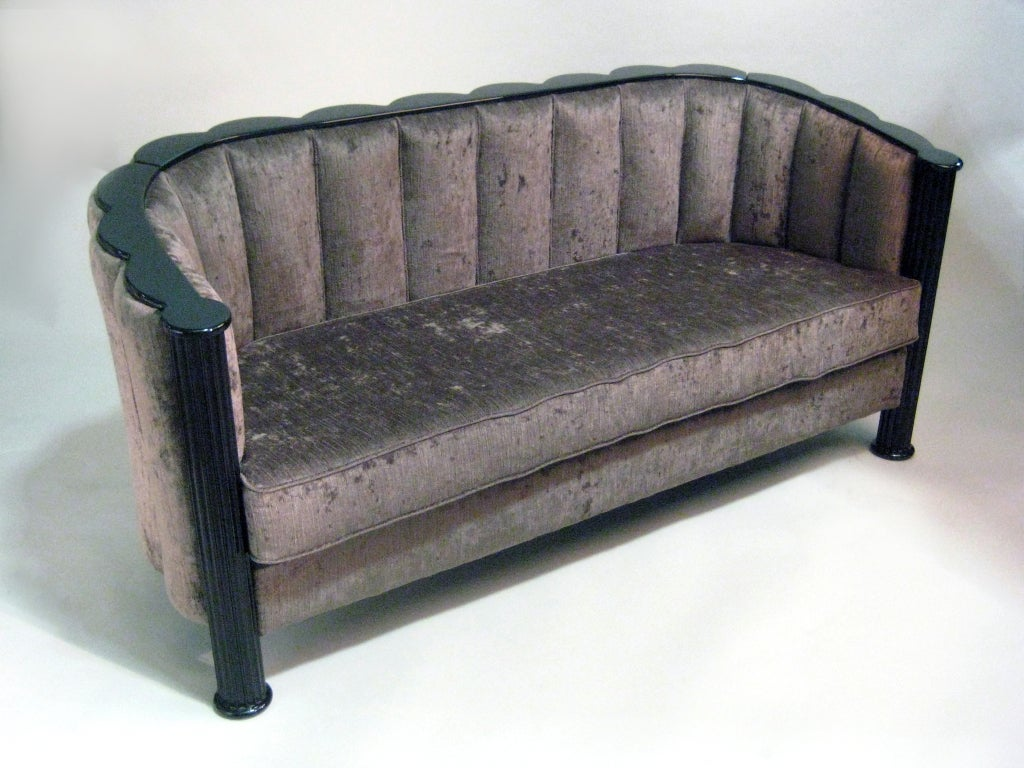 Austrian Art Deco Scalloped Shell Loveseat For Sale At 1stdibs