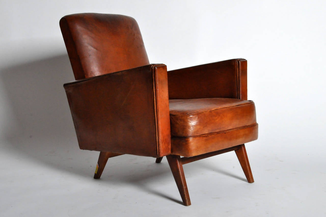 Pair of mid century modern square armchairs at 1stdibs for Mid century modern armchairs