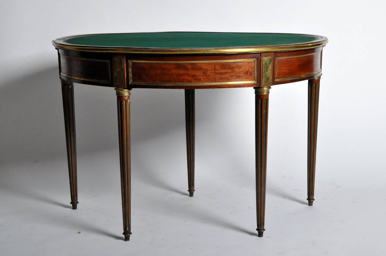 five leg demi lune game table at 1stdibs. Black Bedroom Furniture Sets. Home Design Ideas