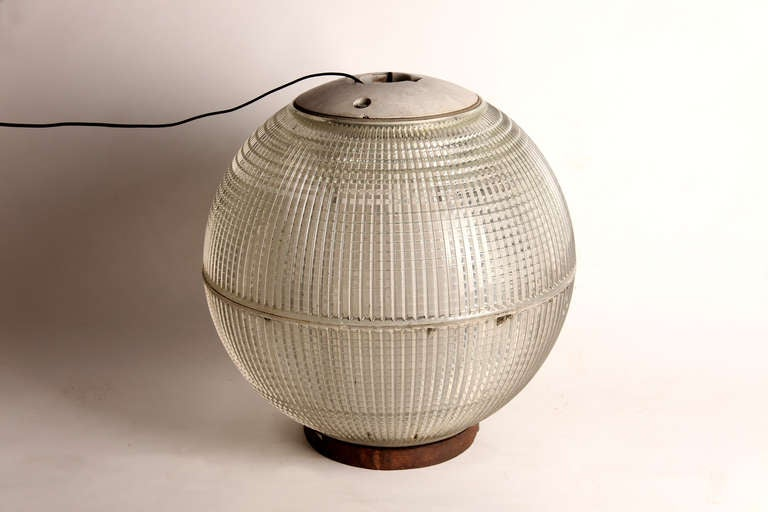 Round glass street lamp at 1stdibs for Chair table lamp yonge st