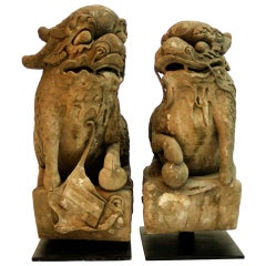 Pair of Chinese Qilin Sculptures