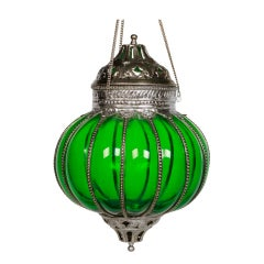 Indian Glass Hanging Lamp