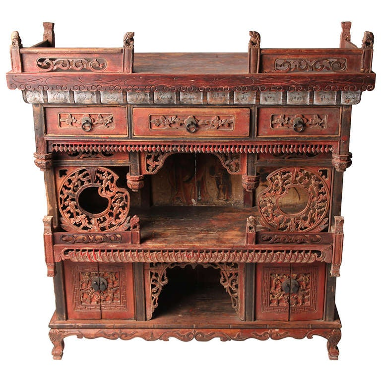 Wedding Altar Stands: Chinese Ancestor Money Offering Altar Stand At 1stdibs