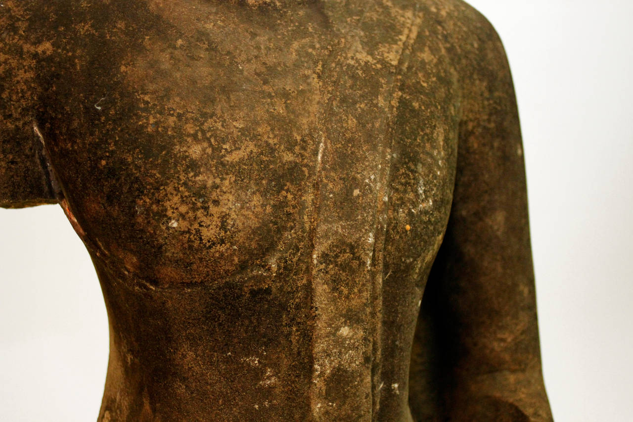 Thai 16th Century Buddha Torso For Sale