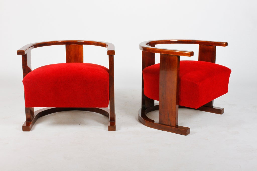 Pair of Art Deco Form Chairs image 2