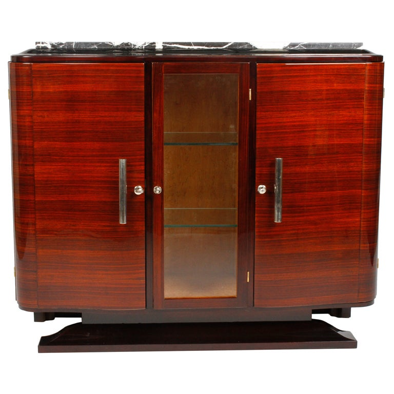 french art deco bar cabinet at 1stdibs. Black Bedroom Furniture Sets. Home Design Ideas