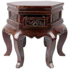 Chinese Hexagonal Shape Side Table