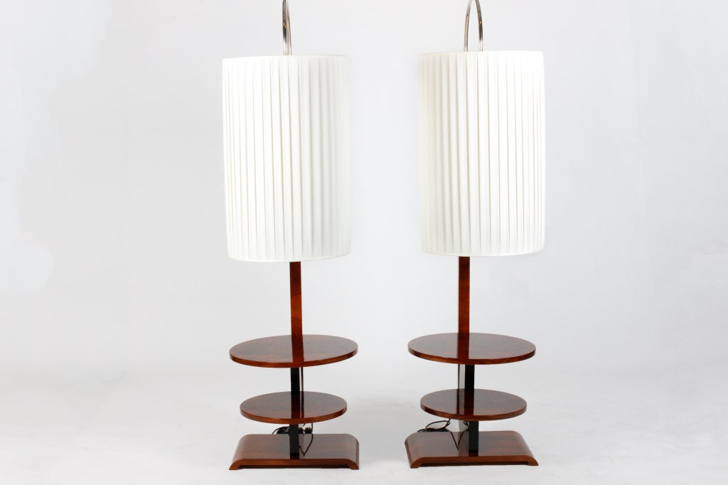 deco arc floor lamps with two tiered shelves is no longer available. Black Bedroom Furniture Sets. Home Design Ideas