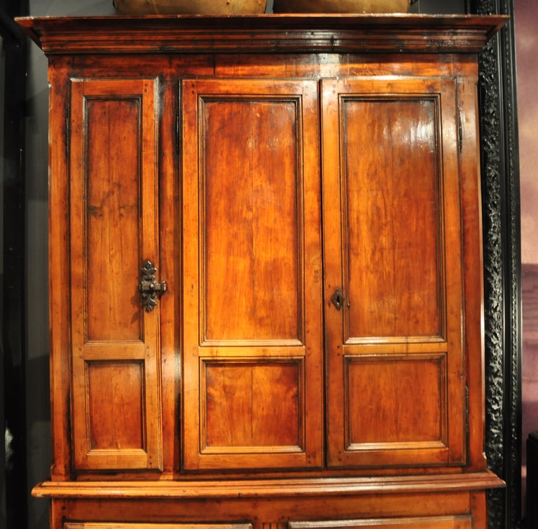 Two-Section Clothing Cabinet With 5 Doors At 1stdibs