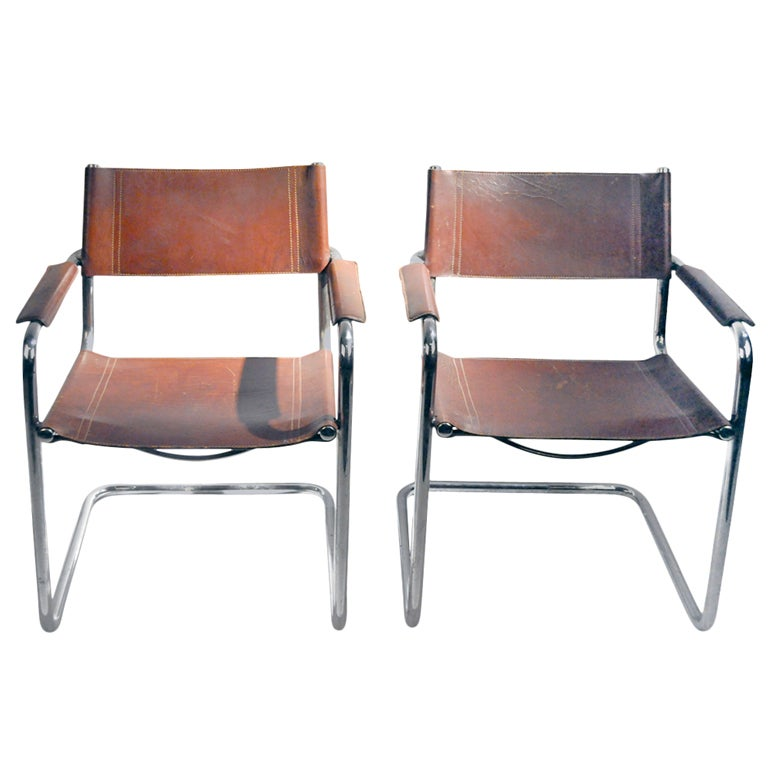 Pair Of Mg5 Dining Chairs By Matteo Grassi At 1stdibs