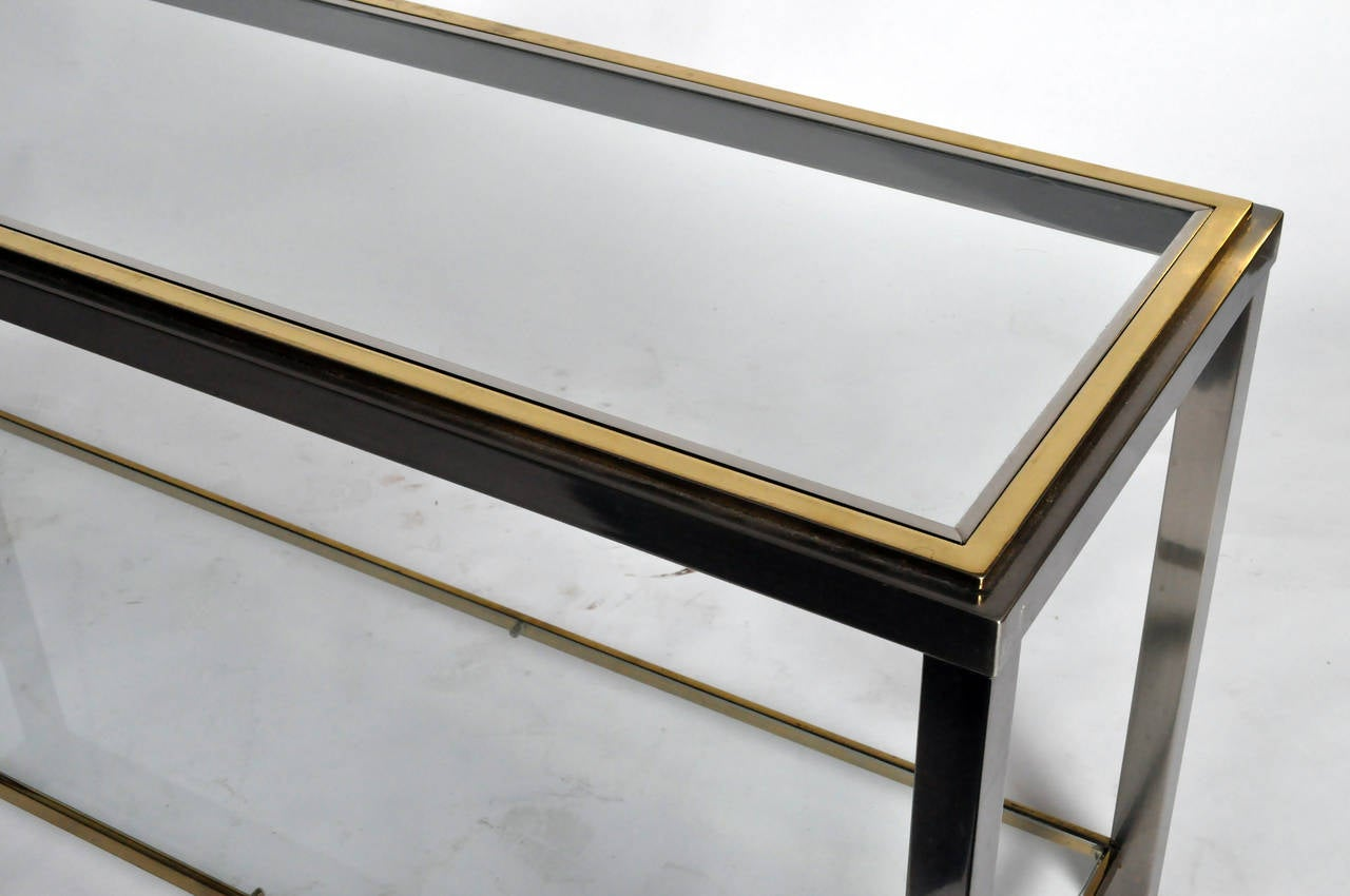 Metal frame console by willy rizzo at stdibs