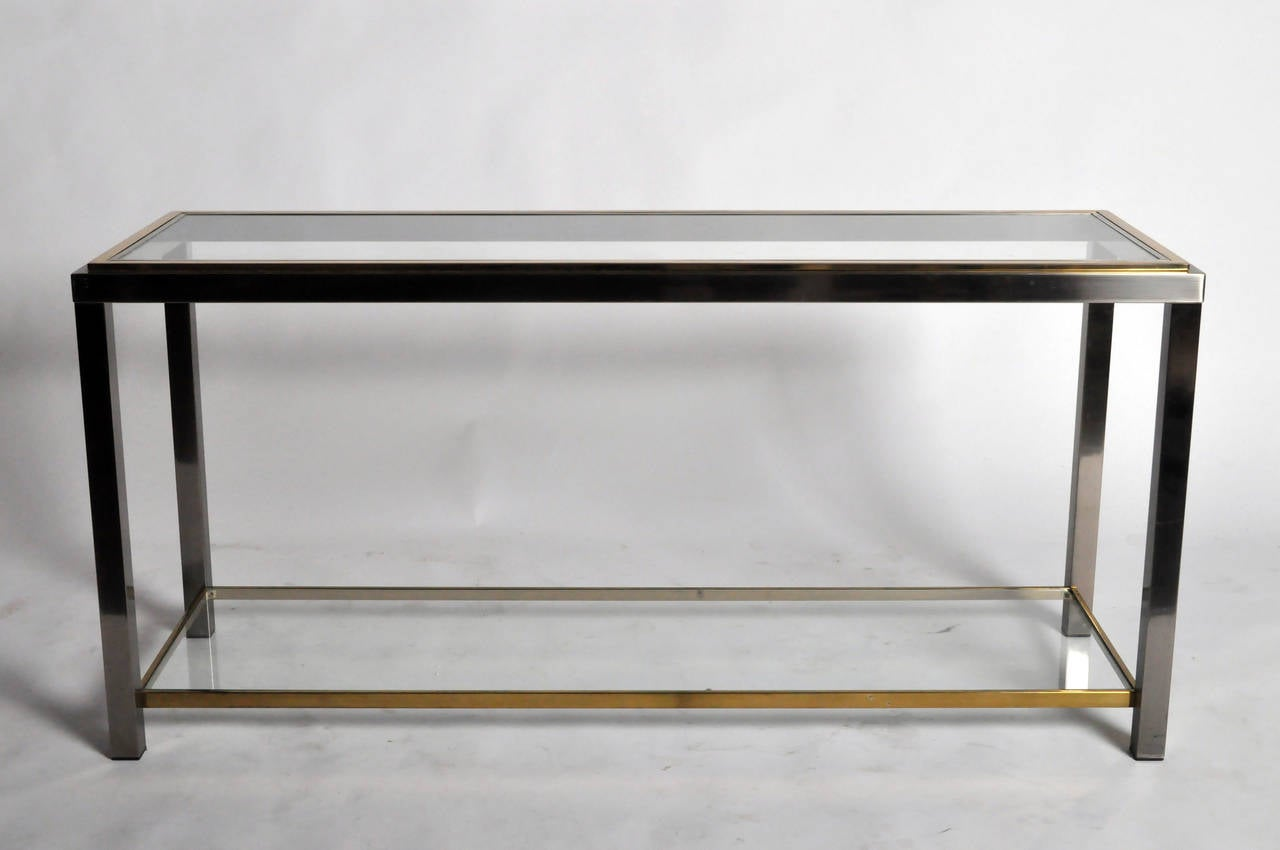 Console Tables With Picture Frames ~ Metal frame console by willy rizzo at stdibs