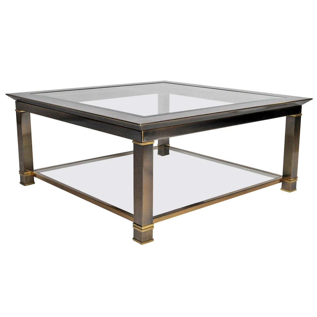 Brass And Glass Coffee Table At 1stdibs