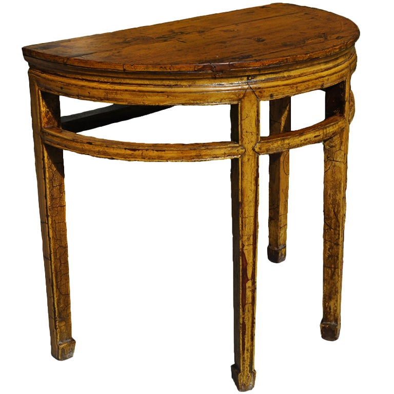 Half Moon Console Table At 1stdibs