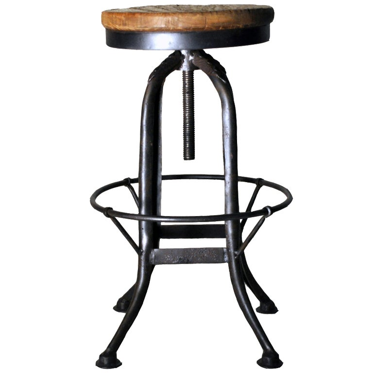 Industrial Kitchen Auctions: Industrial Stool At 1stdibs