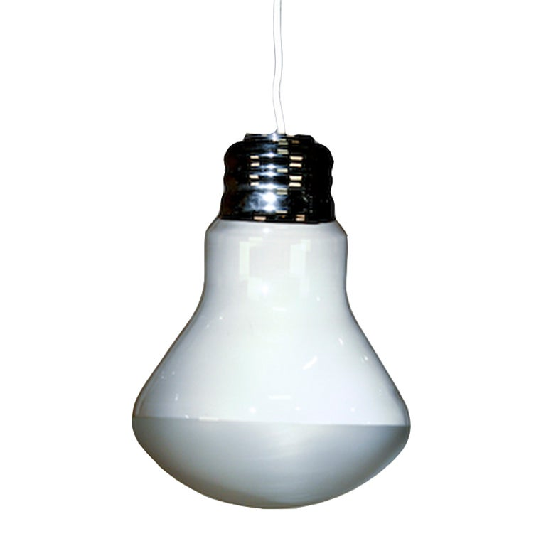 this oversized bulb shaped light is no longer available. Black Bedroom Furniture Sets. Home Design Ideas