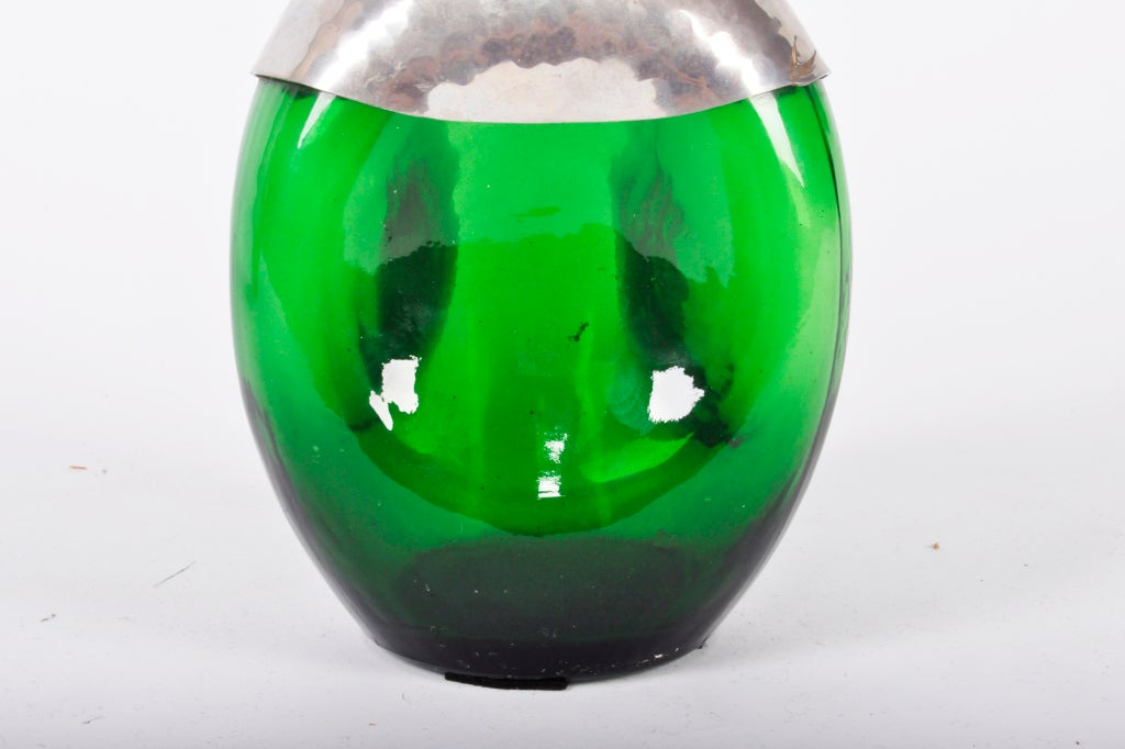 Pair of Green Glass Vessels 3