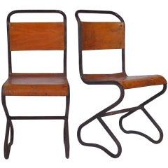 French Chrome Leg Side Chairs At 1stdibs