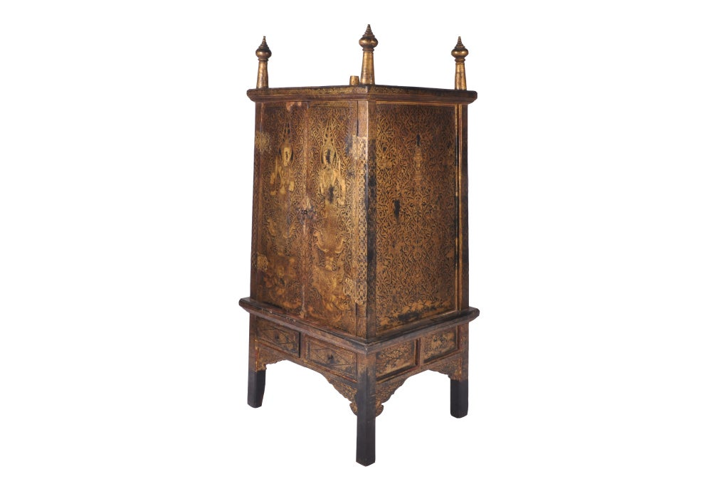 Thailand manuscript cabinet at 1stdibs for Thai furniture