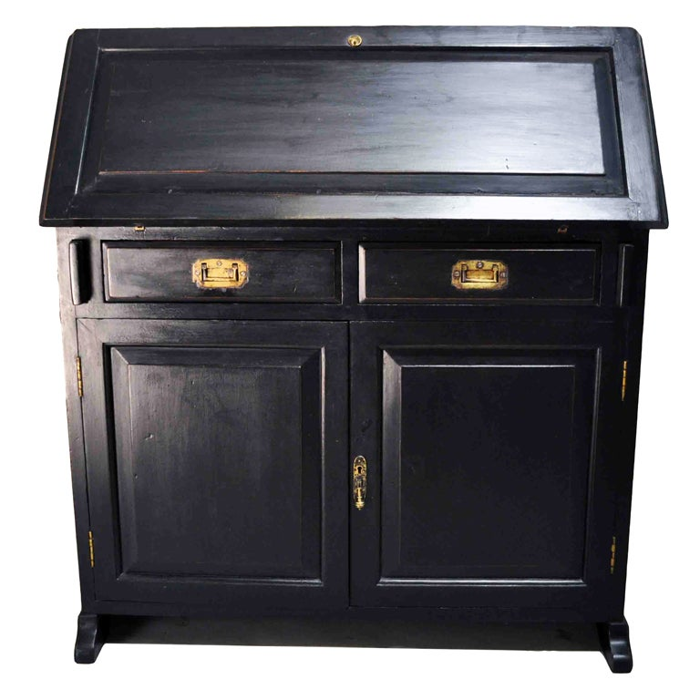 british colonial bureau with 2 doors at 1stdibs. Black Bedroom Furniture Sets. Home Design Ideas