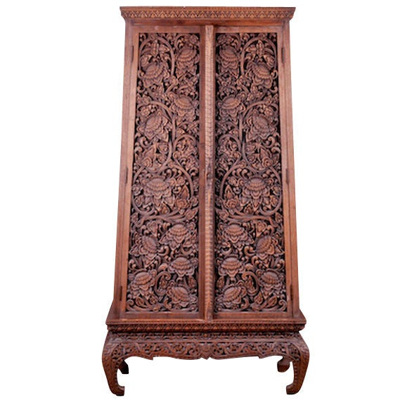 La na thai clothing cabinet for sale at 1stdibs for Thai furniture