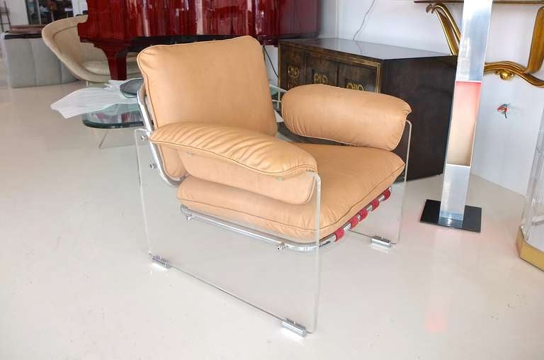 Space Age Pace Collection Lucite Lounge Chair For Sale