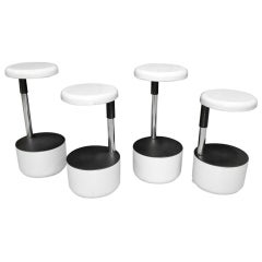"""Set of 4 """"Golf"""" Bar Stools by Roberto Lucci and Paolo Orlandini for VELCA"""