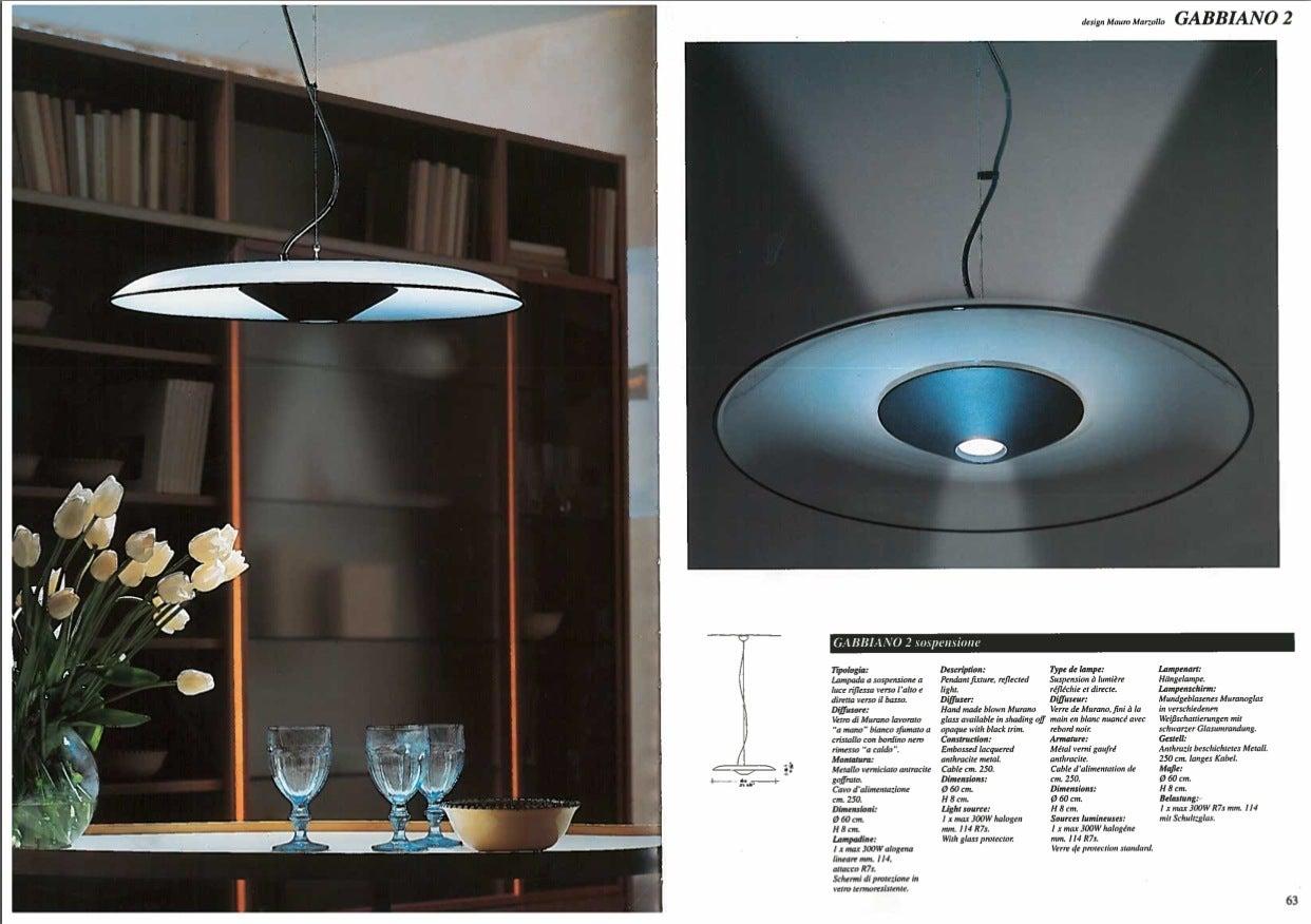 itre lighting. Murano Glass Gabbiano 2 Suspension Pendant By Mauro Marzollo For Itre Sale Lighting