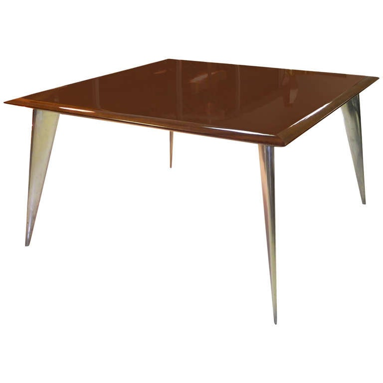 Philippe starck square mahogany dining table m serie lang from aleph for sale at 1stdibs for Philippe starck tables