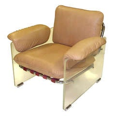 Pace Collection Lucite Lounge Chair