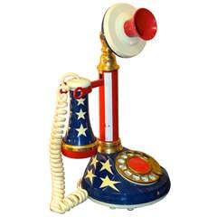 Stars & Stripes Candlestick Telephone