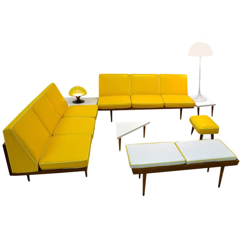 Piece mid century modern living room at 1stdibs