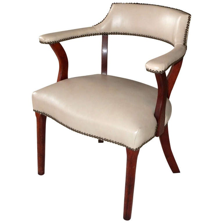 Curved Back Library Chair At 1stdibs
