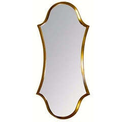 La Barge Cartouche-Form Gilt Framed Mirror