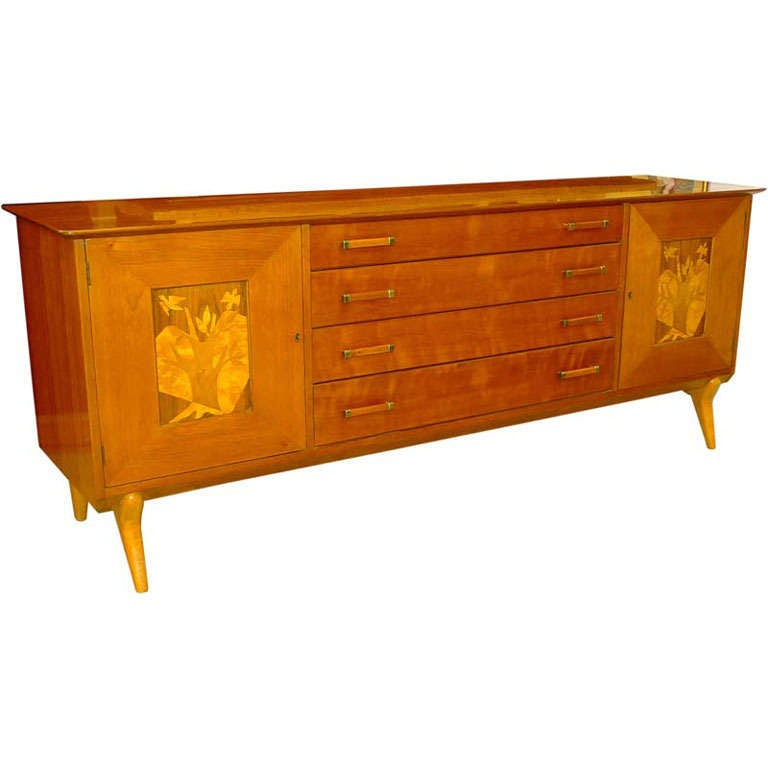 Walnut Sideboard by Renzo Rutili for Johnson Furniture For Sale