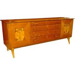 Amazing Walnut Sideboard By Renzo Rutili For Johnson Furniture