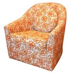 Harvey Probber Barrel Back Swivel Club Chair