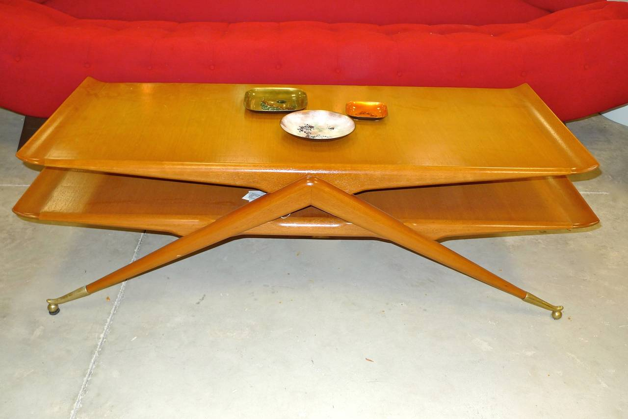 Italian 2 Tier Cocktail Table attributed to Ico & Luisa Parisi For Sale 4