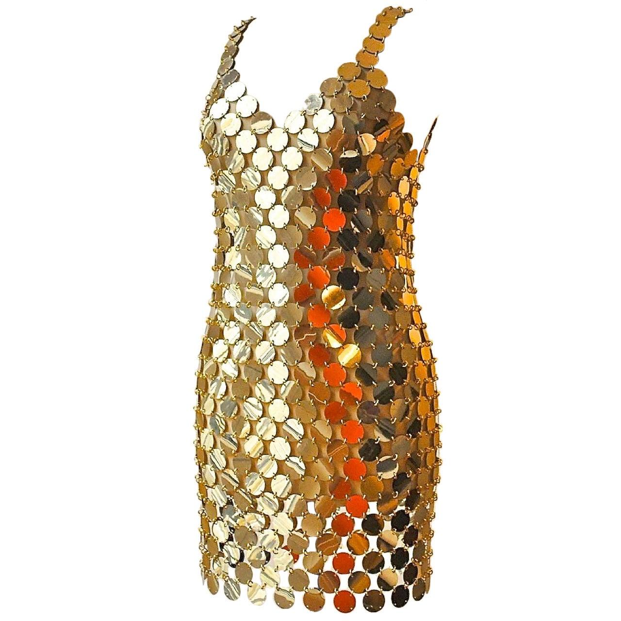 Paco Rabanne Gold Rhodoid Disc Dress - SATURDAY SALE