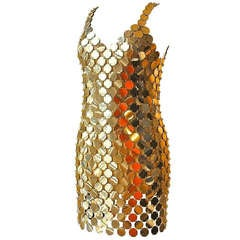 Paco Rabanne Gold Rhodoid Disc Dress - 1996 Limited Edition