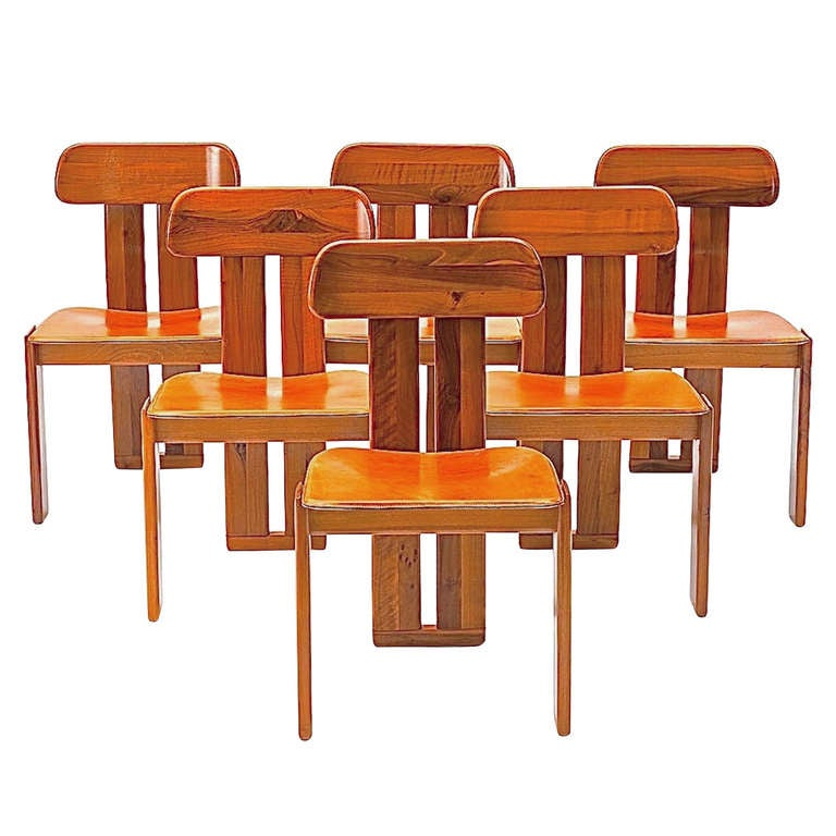 Six Italian Dining Chairs - Tobia & Afra Scarpa for Maxalto