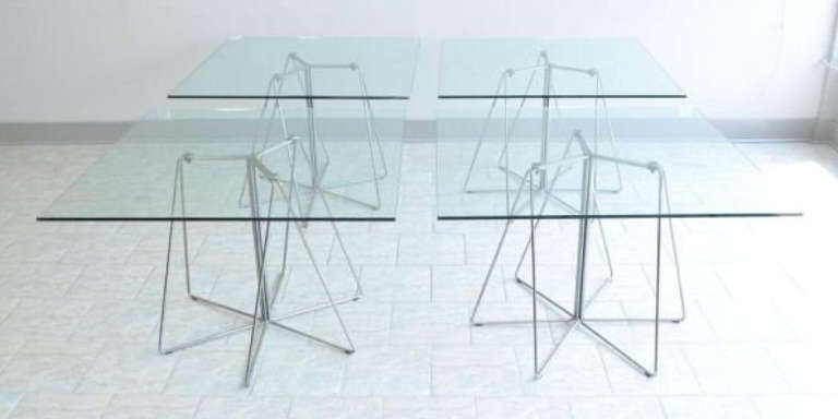 American Massimo & Lella Vignelli Paperclip Table For Knoll For Sale