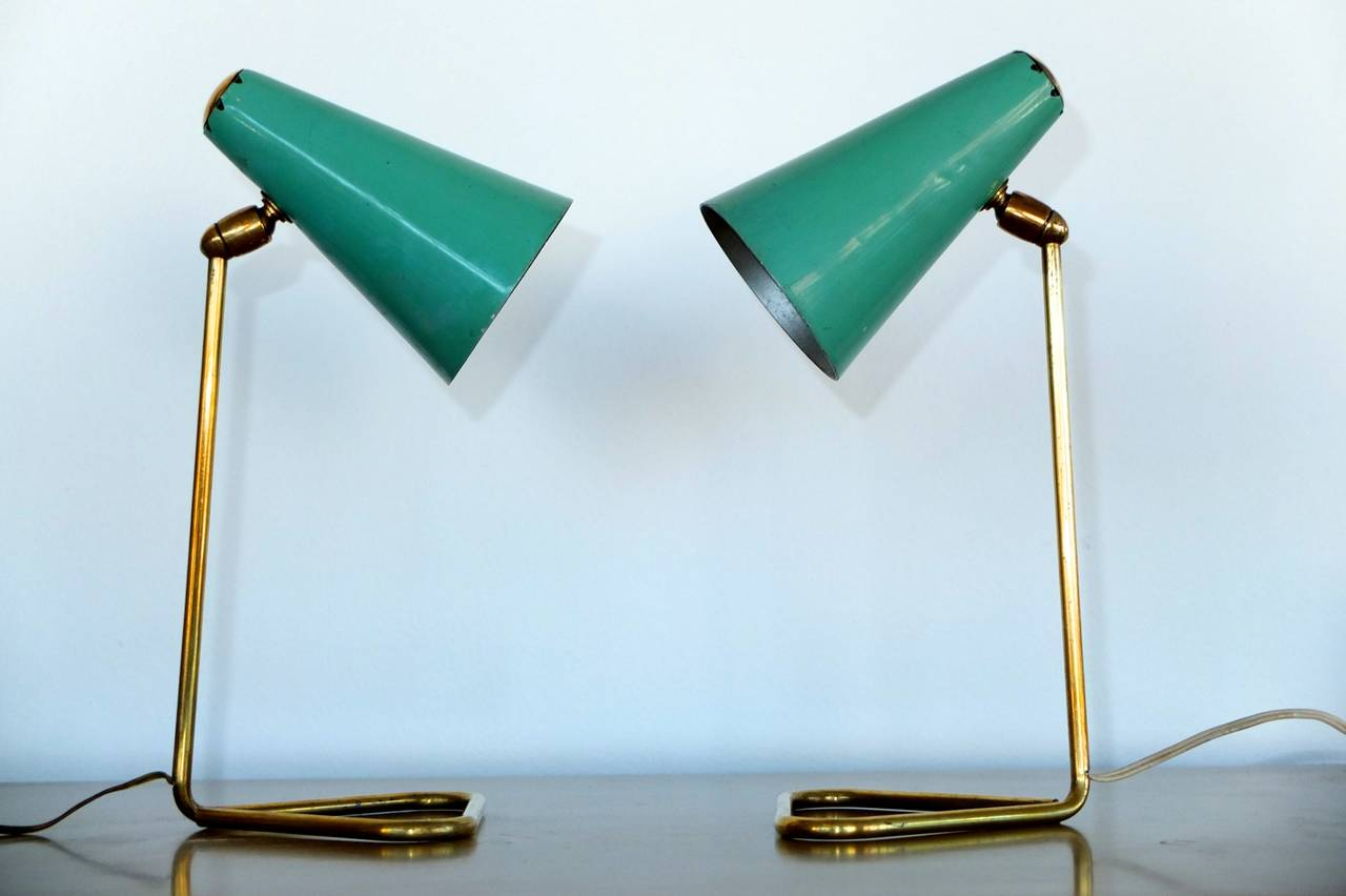 Pair of Table or Wall-Mounted Italian Lamps by Stilux Milano at 1stdibs